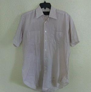 Vintage 80s Sears Men's Short Sleeve Dress Shirt
